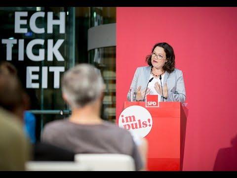 """Rede von Andrea Nahles: """"Gebt die Daten frei!"""""""