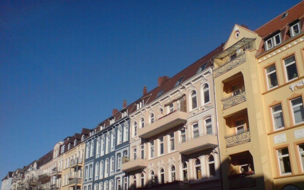 Fassaden in der Steinstraße von Kiel
