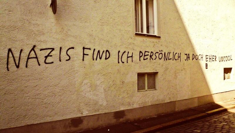"""Graffito: """"Nazis find ich persönlich ja doch eher uncool"""""""