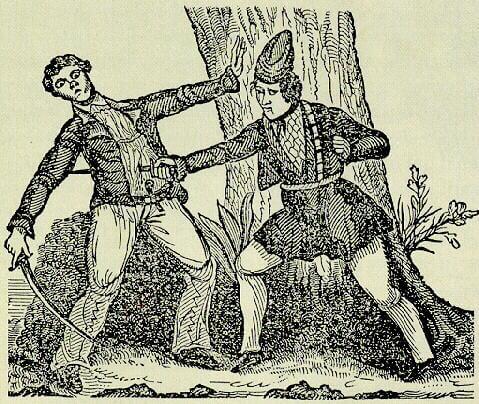 Holzschnitt von Piratin Mary Read, wikicommons