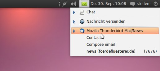 Thunderbird mit Ubuntu-Integration
