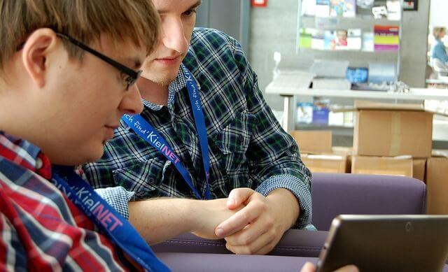 Gespräche beim BarCamp Kiel 2012