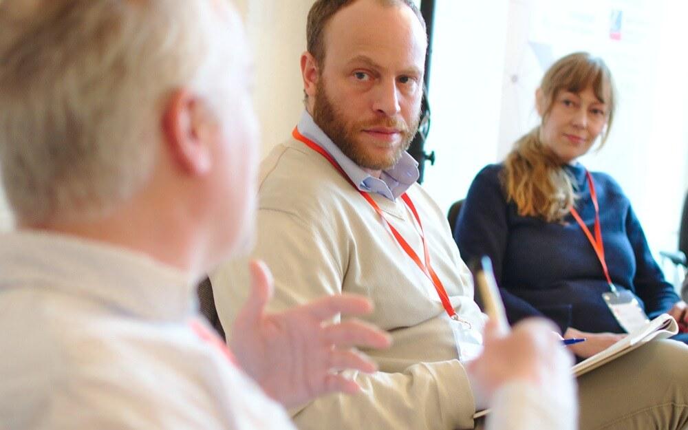 Thilo Spahl und Jacob Bilabel auf dem BarCamp Fortschritt | Foto: Steffen Voß