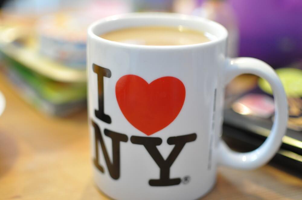 """Meine Lieblingstasse sagt: """"I ♥ NY"""""""