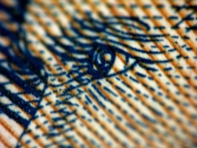 Geldschein, Nahaufnahme