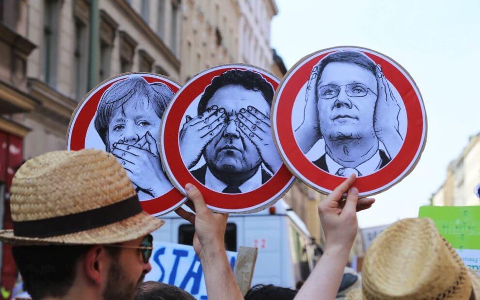 Nichts hören, nichts sehen, nichts sagen. - Stop Watching Us, Berlin, 27.07.2013