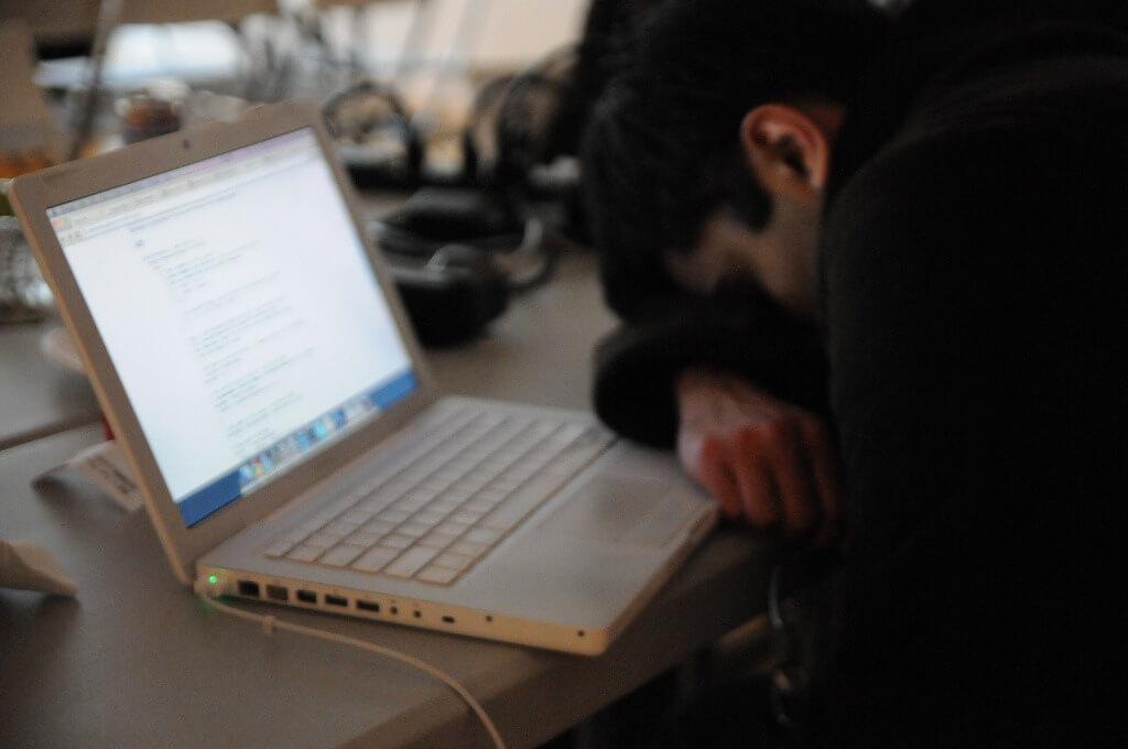 Hacker schläft