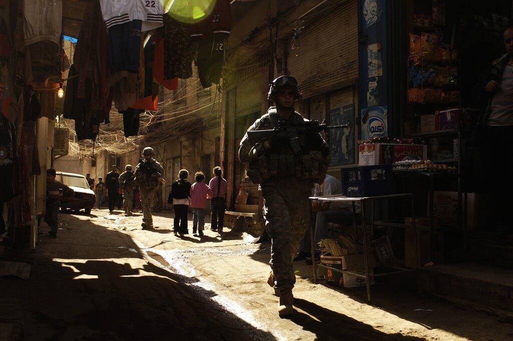Patrouille im Irak