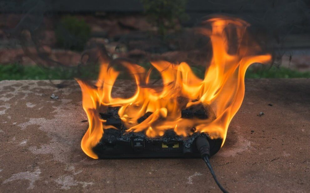 Router on Fire