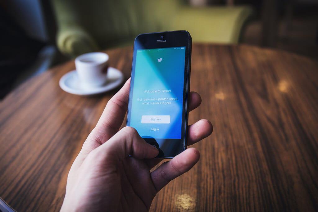 Twitter und Kaffee