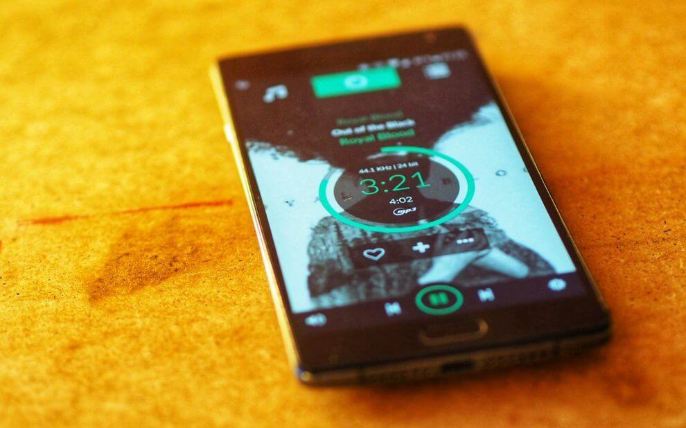 Volumio 2 Oberfläche auf dem Smartphone