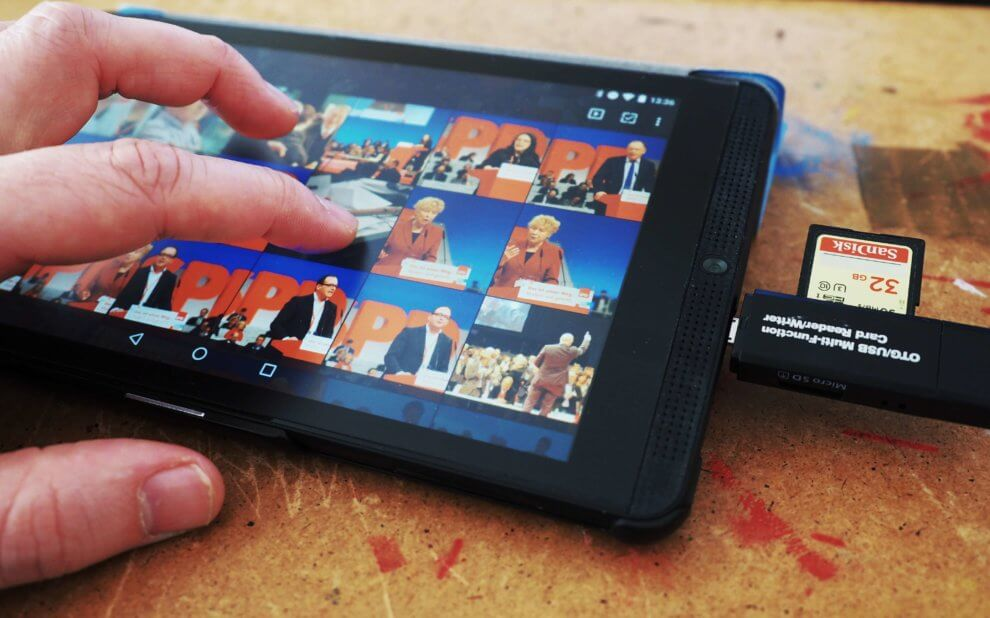 Adapter am Tablet