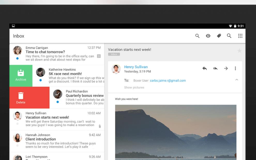 Boxer - Die E-Mail-App für Android