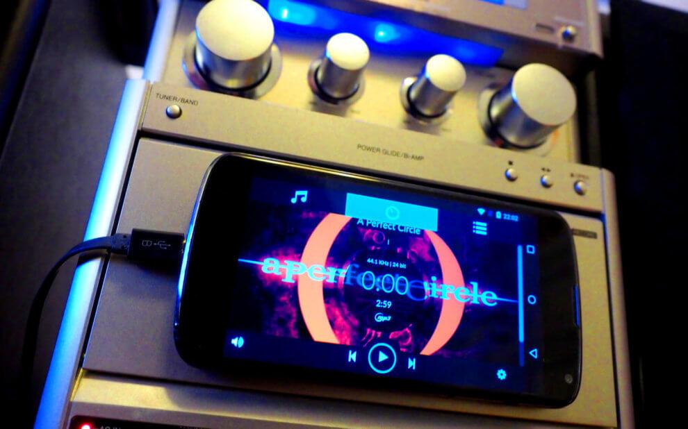 Nexus 4 Smartphone mit Volumio