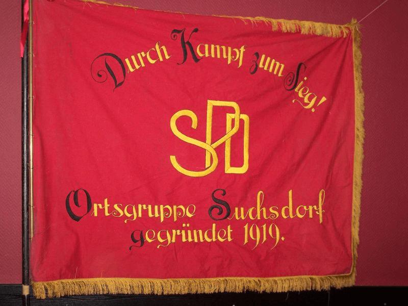 Fahne der SPD Suchsdorf