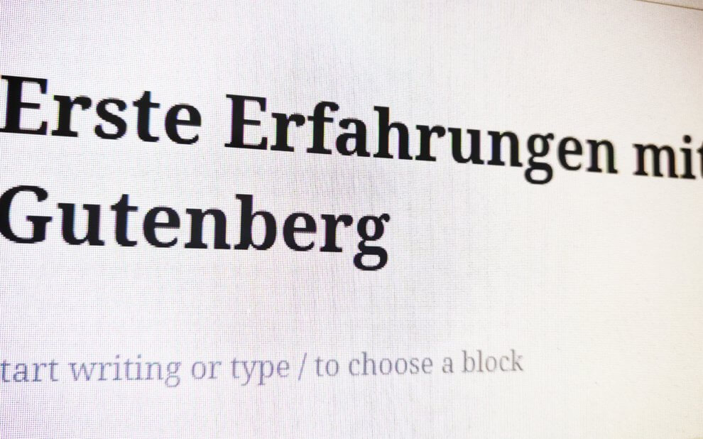 Gutenberg Editor in Wordpress