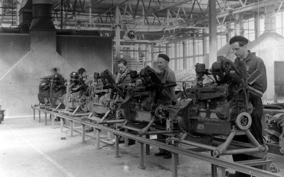 Fabrikarbeiter 1950