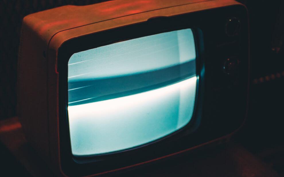 Rauschender alter Fernseher