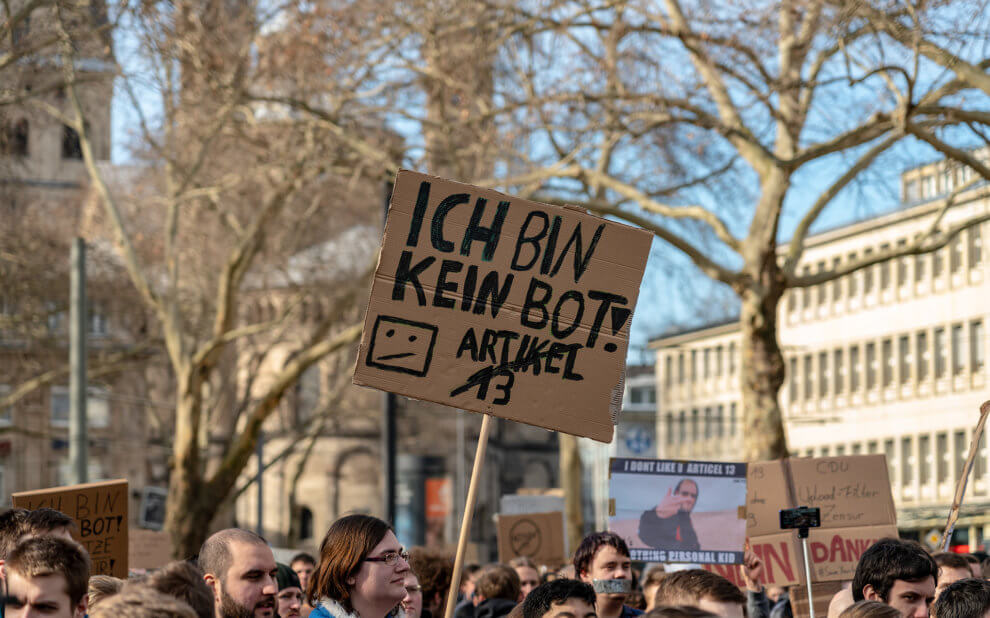 Demo gegen Artikel 13