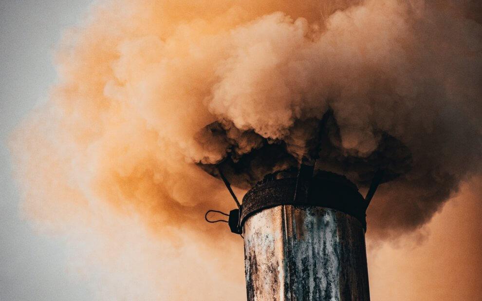 Rauchender Schornstein