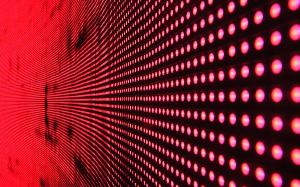 Rote LEDs bis zum Horizont