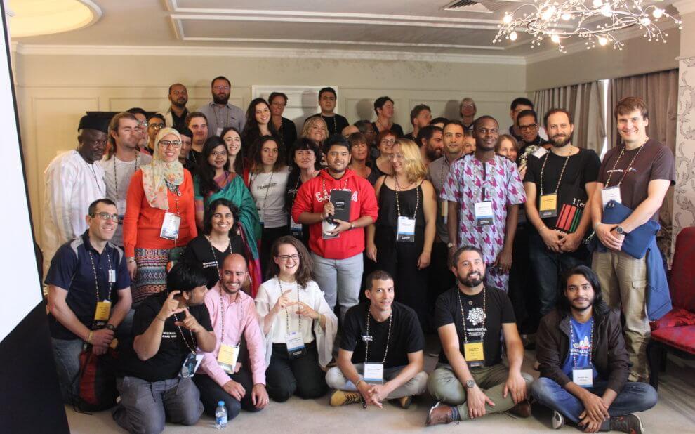 Eine der Strategiegruppen bei Wikimania 2018 in Kapstadt
